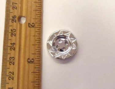 Round Silver Buttons size 34, 8339