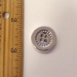 Round Silver Buttons Size 34 8060