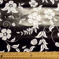 Black/White Flower PVC Tabling