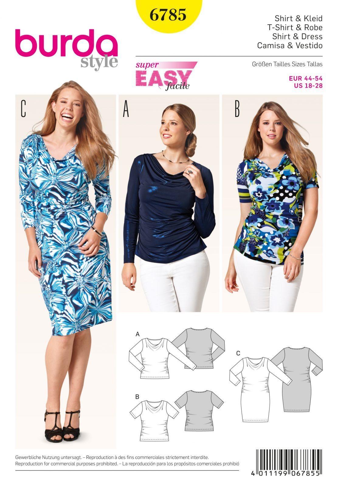 Burda sewing pattern 6785 fabric land burda sewing pattern 6735 jeuxipadfo Choice Image