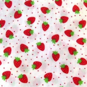 Strawberry Jam Cream Poly Cotton