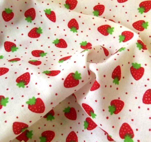 Strawberry Jam Cream Poly Cotton