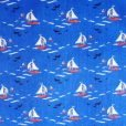 Sail Away Blue Poly Cotton