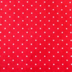 sweetie spot red poly cotton