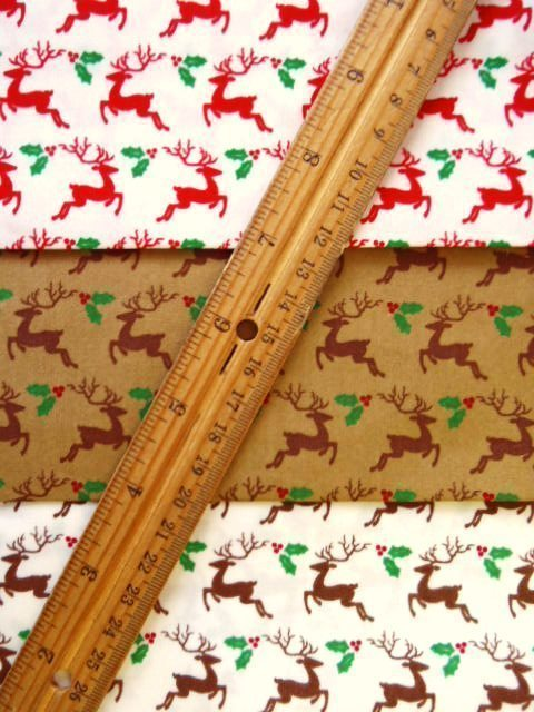 Cotton Fabric Christmas Stag