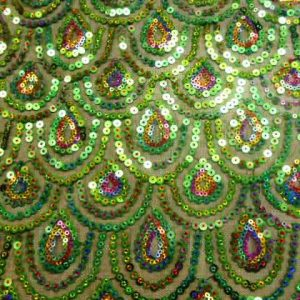 Peacock sequin