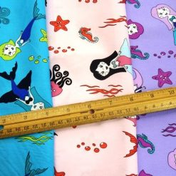 Mermaids Patterned Cotton Fabric