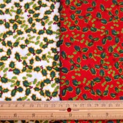Christmas Cotton Holly Classic fabric