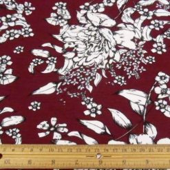 Floral Winter Wine T-shirting