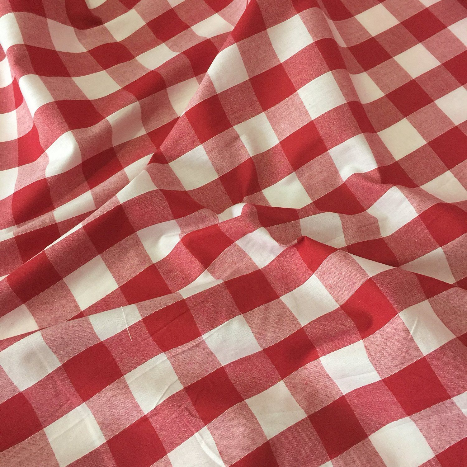 Gingham fabric polyester cotton 24mm wide fabric land for Gingham fabric