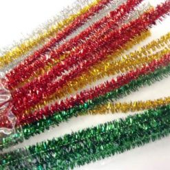 Assorted Metallic Pipe Cleaners 12 inches