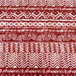 Red Winter Cuddles Jersey Fabric