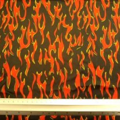 Lycra Patterned Fabric Devil Fires