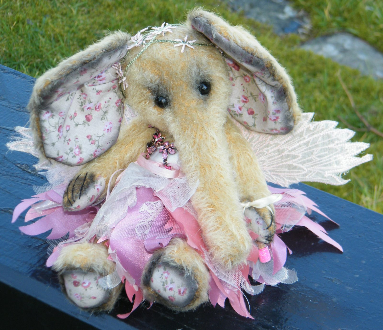 Blossom Fairy Elephant made with Silk Fabrics