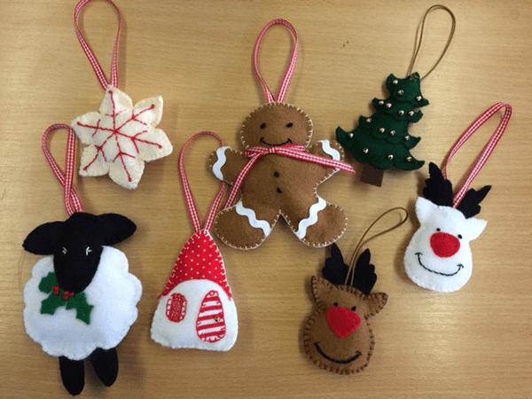 Felt Christmas Decorations Uk.Christmas Decorations Fabric Land