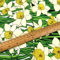 Floral Doreen Daffodil Cotton Fabric
