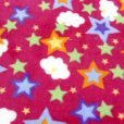 Cerise Stars and Clouds Huggable Fleece Fabric