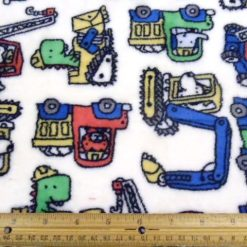 Diggers Huggable Fleece Fabric