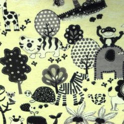 To the Zoo Cream Brushed Cotton Fabric