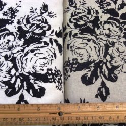 Floral Shadow Linen Viscose Suiting Fabric