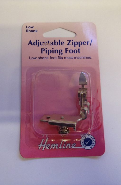 Low Shank Adjustable Zipper/Piping Foot