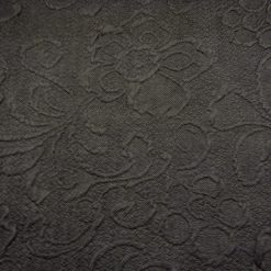 Black Polyester Jacquard Jersey Fabric