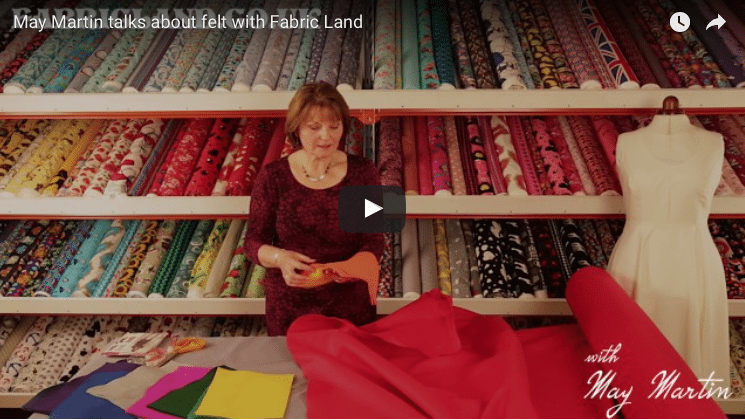 May Martin talks about felt with Fabric Land
