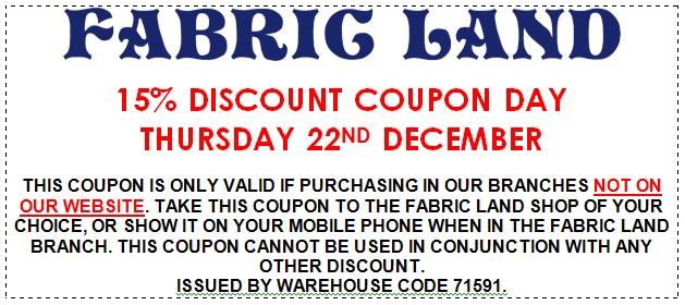 Thursday 22nd Discount Voucher