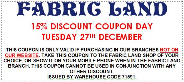 Tuesday 27th Discount Voucher