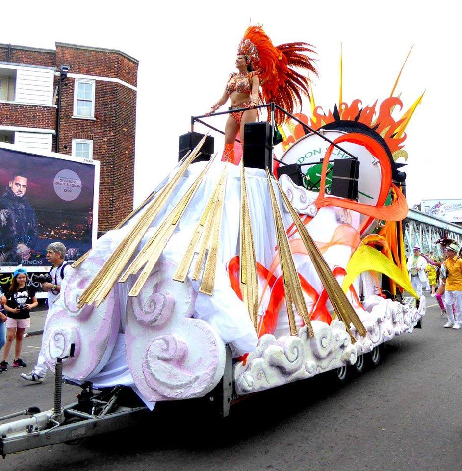 London School of Samba float Notting Hill Carnival