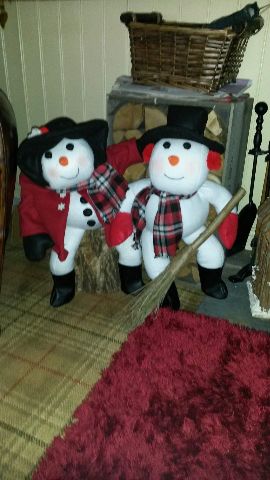 Snowmen made with Fleece Fabrics