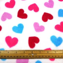 Sweet Hearts Huggable Fleece Fabric