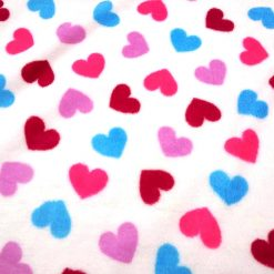Hearts Patterned Fabric
