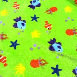 Lime Fishies Huggable Fleece Fabric