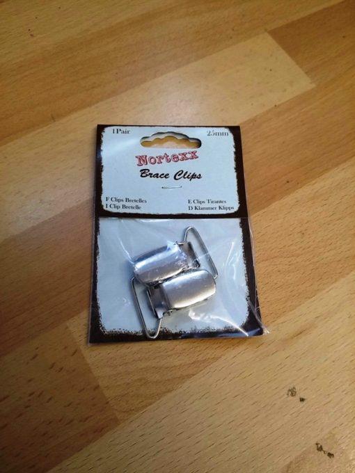 Brace Clips 25mm Silver