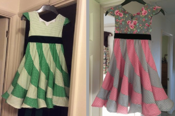 Party dress made with Floral Patterned Fabrics