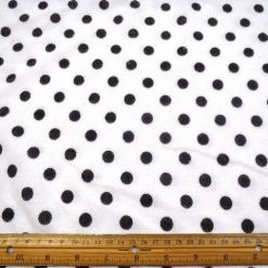 Snow Spot White/Black Jersey Knit Fabric