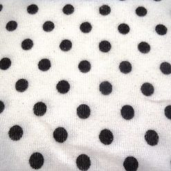 Snow Spot White/Black Jersey Knit Fabric