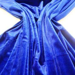 Dance Wear Royal Spandex Velour Fabric