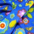 Turquoise Spring Flower Patterned Polar Fleece Fabric
