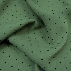 Spot Printed Georgette Fabric