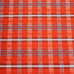 Tartan Seersucker Check Fabric