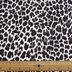 Funky Leopard Stretch Cotton Sateen Fabric