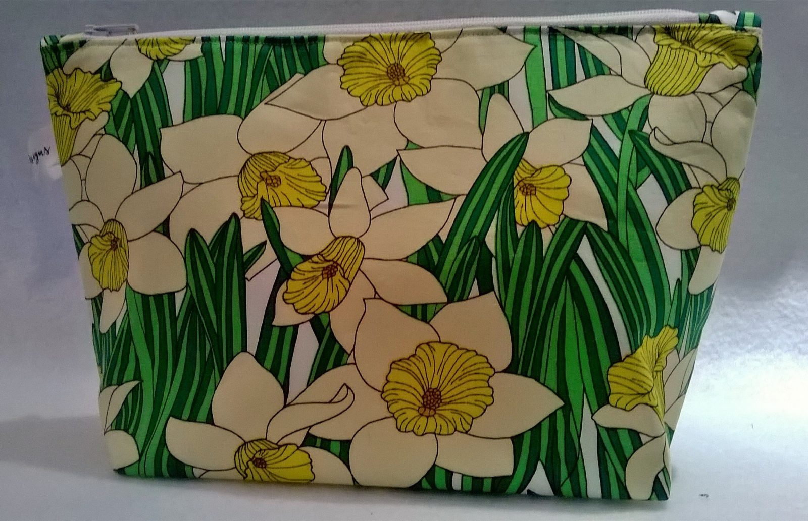 Daffodil Make Up Bag made Printed Cotton Fabrics