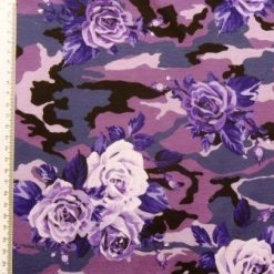 T-Shirting Fabric Purple Roses