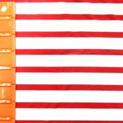 Red Sailor Stripe Lycra Fabric