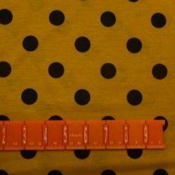Jersey Fabric Mustard Spot