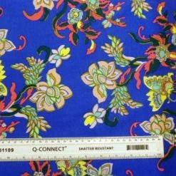 Viscose Fabric Floral Antique Style