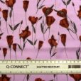 Viscose Fabric Tulips City Pink