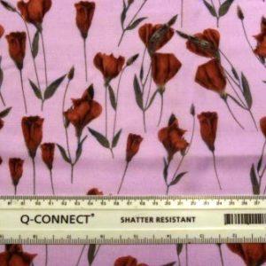 Viscose Fabric Tulips City Pink